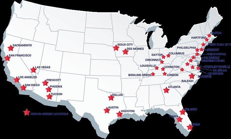 Tech-24 Service Locations